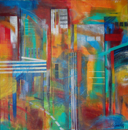 laurence chandler, metropolis no. 2, abstract art for sale, washington dc, fine art