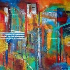 Laurence Chandler, Larry Chandler, abstract expressionism, original art, mixed media and acrylic, graphiti gems gallery