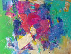 Laurence E. Chandler, Jelly Beans on a Roll, vango art, graphiti gems, abstract art