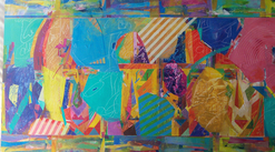 laurence chandler, art for sale, The Griots, abstract, fine art, washington dc, MD, expressionism